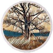Tree1 Round Beach Towel