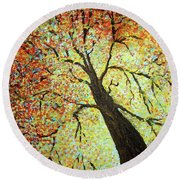 Treehouse Branches Round Beach Towel