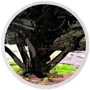 Trees 1 Round Beach Towel