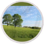 Summer Trees 3 Round Beach Towel