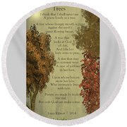Trees Round Beach Towel