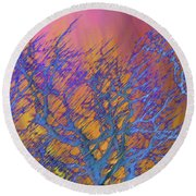 Trees In Spring Round Beach Towel