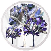 Trees Of Sadness Round Beach Towel