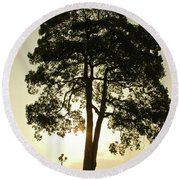 Trees On The Park Round Beach Towel