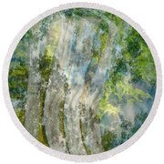 Trees Over Highway Round Beach Towel