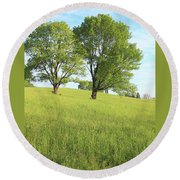 Summer Trees 2 Round Beach Towel