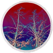 Treetops 4 Round Beach Towel by Will Borden