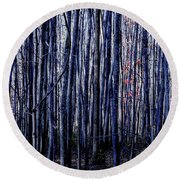 Treez Blue Round Beach Towel