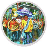 Treme Brass Band Round Beach Towel