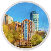 Tremont Street Round Beach Towel