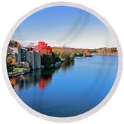 Trent University Peterborough Campus Round Beach Towel