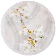 Triadelphia Cherry Blossoms Round Beach Towel