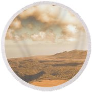 Trial Harbour Landscape Panorama Round Beach Towel