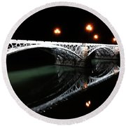 Triana Bridge Round Beach Towel