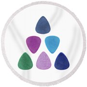 Triangle Made Of Guitar Picks Round Beach Towel