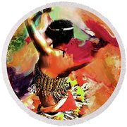 Tribal Dance 0321 Round Beach Towel by Gull G