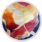 Tribute To An Angel Round Beach Towel by Claire Bull