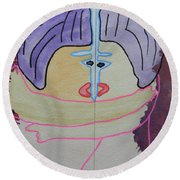 Tribute To C. Brancusi Round Beach Towel