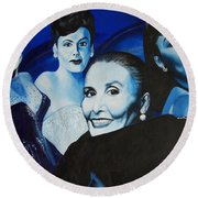 Tribute To Lena Horne Round Beach Towel