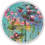 Tribute To Monet II Round Beach Towel