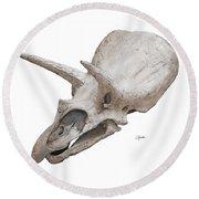 Triceratops Skull Round Beach Towel