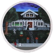 Trick-or-treat Round Beach Towel