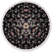 Trimandalam 2 Round Beach Towel by Robert Thalmeier