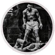 Trinity Boxing Gym Ali Vs Liston  Round Beach Towel