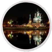 Trinity Church Round Beach Towel