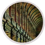 Trinity College Library Round Beach Towel