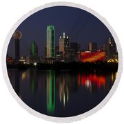 Trinity River Dallas Round Beach Towel