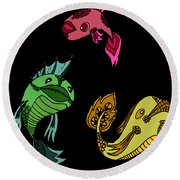 Trio Fish Round Beach Towel