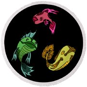 Trio Fish Round Beach Towel