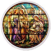Trio Of Angels Round Beach Towel