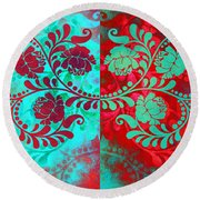 Round Beach Towel featuring the digital art Trip The Night Fantastic Together by Angelina Vick