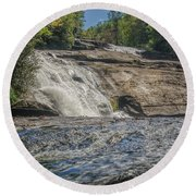 Triple Falls Second Tier Round Beach Towel by Steven Richardson