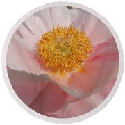 Triple Layer Pink Poppy Round Beach Towel