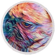 Trippy Arabella Round Beach Towel