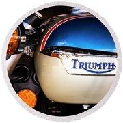 Triumph Motorcyle Round Beach Towel