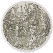 Triumph Of Caesar Round Beach Towel