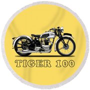 Triumph Tiger 100 1939 Round Beach Towel