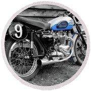 Triumph Tiger 100 Rs 1957 Round Beach Towel