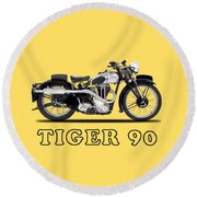 Triumph Tiger 90 1937 Round Beach Towel