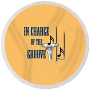 Trombones In Charge Of The Groove 5533.02 Round Beach Towel