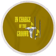 Trombones In Charge Of The Groove 5534.02 Round Beach Towel