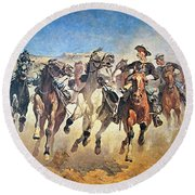 Troopers Moving Round Beach Towel