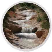 Round Beach Towel featuring the photograph Tropic Creek by Marie Leslie