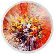 Tropic Intensity Round Beach Towel