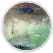 Round Beach Towel featuring the painting Tropic Waters by Michal Mitak Mahgerefteh