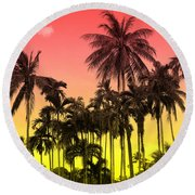 Tropical 9 Round Beach Towel by Mark Ashkenazi